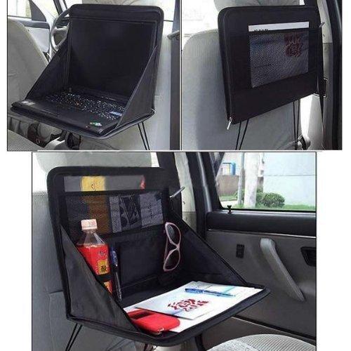 FireAngels, supporto per auto per computer portatile, fatto a borsa, da fissare sul sedile dell'auto, utilizzabile anche come piano da lavoro, per mangiare oppure come organizer da tavolo