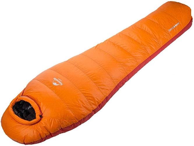 FFJJQAN Sacs de Couchage rectangulaires Sacs de Couchage sarcophage Duvet de Canard Blanc Portable Ultra-léger pour Le Camping en Plein air,Orange, 400 g Sacs de Couchage de Camping et randonnée