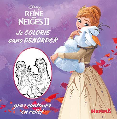 Disney La Reine des Neiges 2 - Je colorie sans déborder - Livre de coloriage avec contours en relief - Dès 3 ans