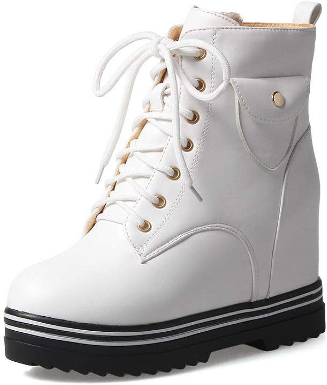 BalaMasa Womens Fashion Platform Boots Urethane Boots ABL12053