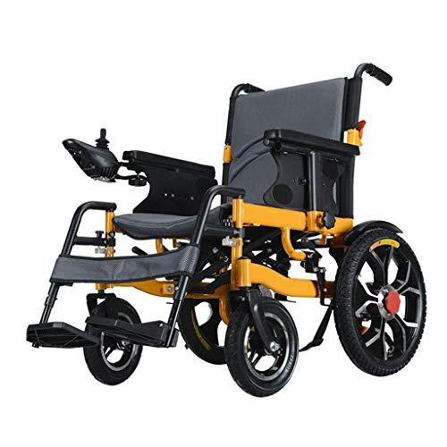 JL-Q Voll intelligente elektrische Aluminiumlegierung Rollstuhl Alte Menschen mit Behinderungen Scooter Allrad Elektro-Rollstuhl kollapsiblen älteren Behinderten vierrädrigen Roller