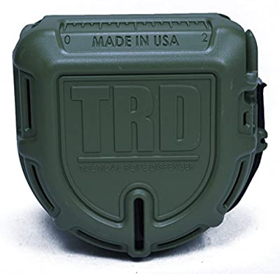 The TRD - Tactical Rope and Paracord Dispenser and Cutter - Preloaded with 50 feet 550 Paracord - Olive Drab Green