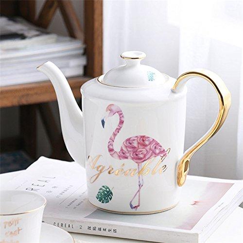 Spanje Vintage royal porseleintheepot theepot met kopjes koffie brouwen Europese keramische theetijd,mannelijke flamingo