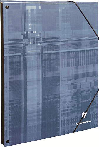 Clairefontaine 7035C Eckspann Ordnungsmappe (DIN A4, 21 x 29,7 cm, mit 9 Fächer, ideal für die Schule) 1 Stück farbig sortiert