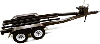 Integy RC Model Hop-ups C27640BLACK Machined Alloy Dual Axle Boat Trailer Kit for 1/10 Scale RC 670x190x160mm