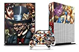 247Skins Designer Skin Sticker for the XBOX ONE S Console With Two Wireless Controller Decals - Mad Hatter