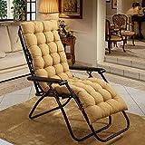 YWYW Cojines para sillas mecedoras Cojines para sillones Espesar Alargar Cojines para sillas de Mimbre Plegables Cojín de Banco con Mullido para Patio-Color Crema 19x63 Pulgadas