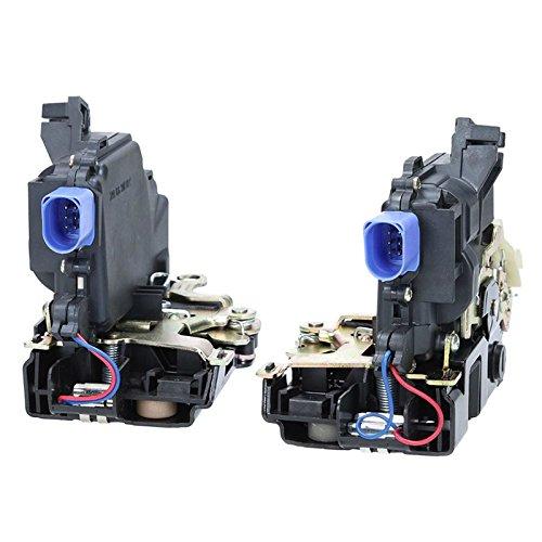 ECD Germany TS-015 + TS-016 2 x Cerradura de puerta trasera izquierda + derecha con cierre centralizado y microinterruptor para coches