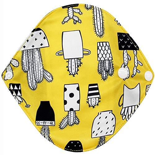 YA-Uzeun 1 pieza menstrual Panty Pad,Mujeres higiene almohadilla higiénica, femenina reutilizable Panty Liner, bambú paño Mama menstrual sanitario pañal toalla Pad lavable