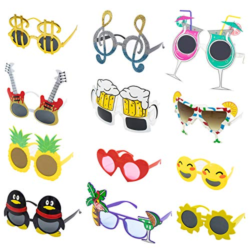 Upper Midland Products 12 PK Party Glasses Crazy Fun Funny Sunglasses Novelty Photobooth Props...