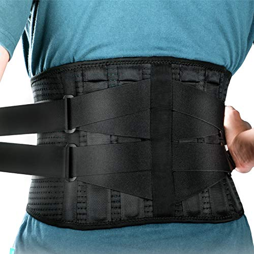 Lower Back Brace Lumbar Support - LONOVE Back Support Belt for Lower Back Pain Relief, Herniated Disc, Sciatica, Scoliosis Back Brace for women and Men, Max Support with Steel Stays for Heavy Lifting