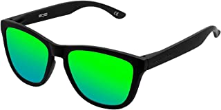 Hawkers Carbon Black Emerald One Gafas de Sol Unisex, color Negro