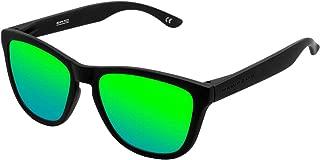 Hawkers Men's CARBON BLACK EMERALD ONE OTR02 Rectangular Sunglasses, Green, 12 mm
