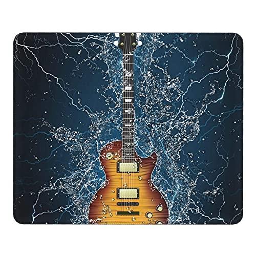 Alfombrilla para ratón Guitarra eléctrica en Agua Alfombrilla para ratón con Borde...