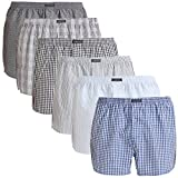 Lower East Herren American Boxershorts, 6er Pack, Mehrfarbig (Mustermix), Gr. XXXX-Large