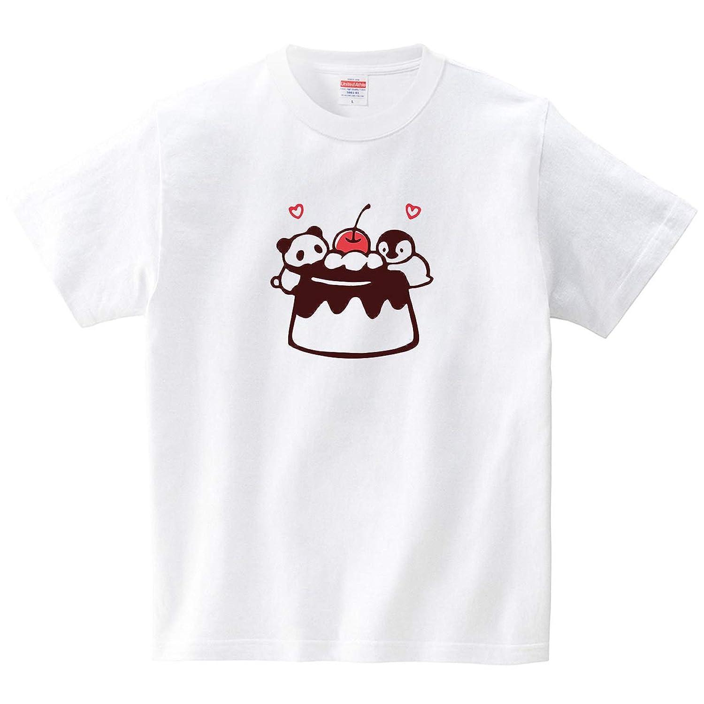 プリン大好き(Tシャツ?ホワイト) (あずき*)