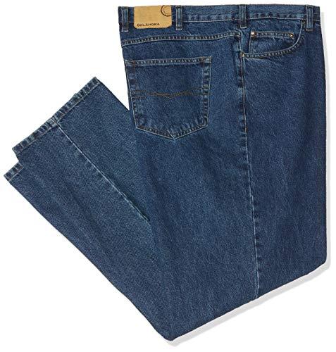 Oklahoma Jeans Herren R144 Straight Jeans, Blau (Stone Wash 005), W48/L30 (Herstellergröße: 48/30)