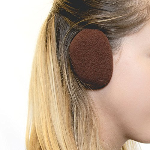 Sprigs Earbags Bandless Ear Warmers/Fleece Earmuffs with Thinsulate  Brown Medium