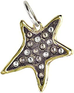 Persisting Star Brass, Sterling Silver and Swarovski Crystals Star Pendant