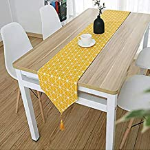 Shukii Table Runner Home Tablecover Decorative 2 Sides Cotton Linen Classic Table Bedding Mat Dining Room Party Holiday De...