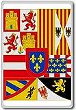 House Of Bourbon (1700-1761), Historic Flags of Spain fridge magnet