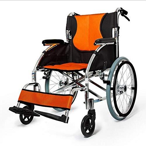 Ouderen Gehandicapten Vouwlamp Draagbare Rolstoel Oude Man Handleiding Rolstoel Verdikt Ultra Licht Handicapped Scooter Cart, Y-L