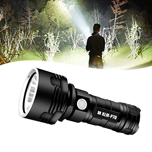 30000-100000 Lumen High Power LED Waterproof Flash Light Lamp, Rechargeable Flashlight Pocket Size Ultra Bright, Handheld Searchlight for Outdoor Hiking Hunting Camping Sport