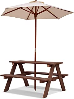 Best folding wood picnic table with umbrella Reviews