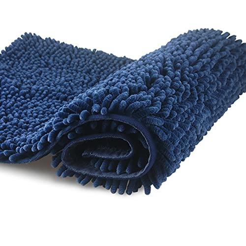 FCSDETAIL Tappeti da Bagno a Pelo Lungo Antiscivolo 50X80 cm, Tappetino Lavabile in Lavatrice con Morbida Microfibra di ciniglia Assorbente d'Acqua per Vasca, Doccia e Bagno