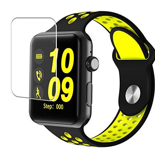 Vaxson 3 Stück Schutzfolie, kompatibel mit Smartwatch Smart Watch DM09 PLUS, Displayschutzfolie TPU Folie [ nicht Panzerglas ]