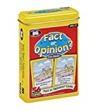 "56 Colorful, Illustrated Cards (2 1/2"" x 3 1/2"") Educational - Helps Children Learn the Difference Between Fact or Opinion Statements Includes 28 Card Pairs, Sturdy Storage Tin, & Game Ideas Fact or Opinion? Fun Deck App Available on the Amazon Appst..."