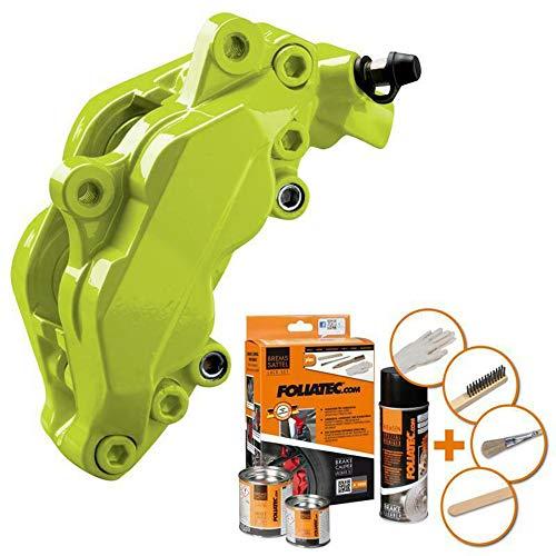 F2 Foliatec Bremssattellack Motorlack Toxic Green Grün für 4 Bremssattel + Reiniger