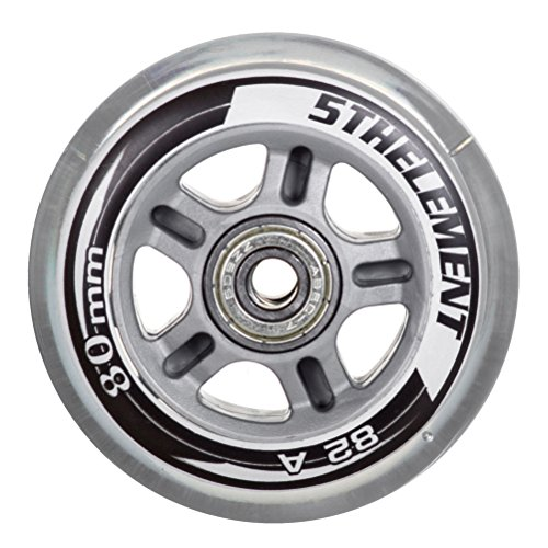 5th Element 8-Pack Performance 80mm Inline Skate Outdoor Replacement Wheels with ABEC-7 Bearings - 80mm