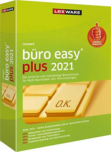 Lexware büro easy plus 2021 Minibox (Jahreslizenz)|Bürosoftware mit hohem Funktionsumfang|Kompatibel mit Windows 8.1 oder aktueller|Plus|2|1 Jahr|PC|Disc