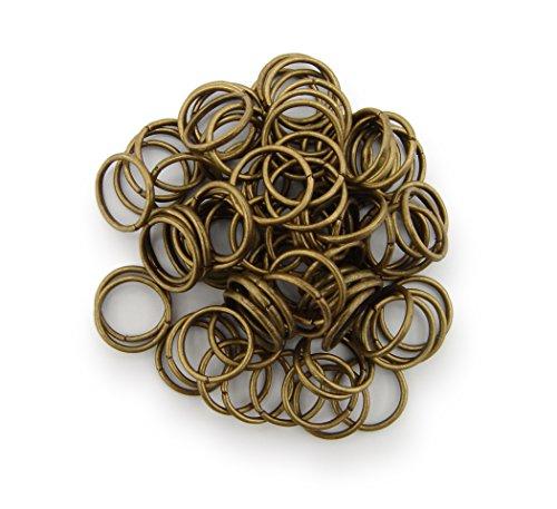 Binderinge / jump Rings 10mm Durchmesser Farbe Antik Bronze 15g ca.80 Stk  Kostenloser Versand