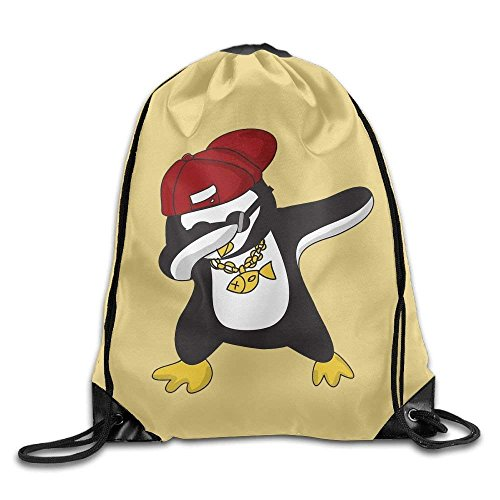 Etryrt Zaino con Coulisse,Borse Sacca,Sacchetto Dabbing Penguin Drawstring Backpack Rucksack Shoulder Bags Training Gym Sack for Man And Women