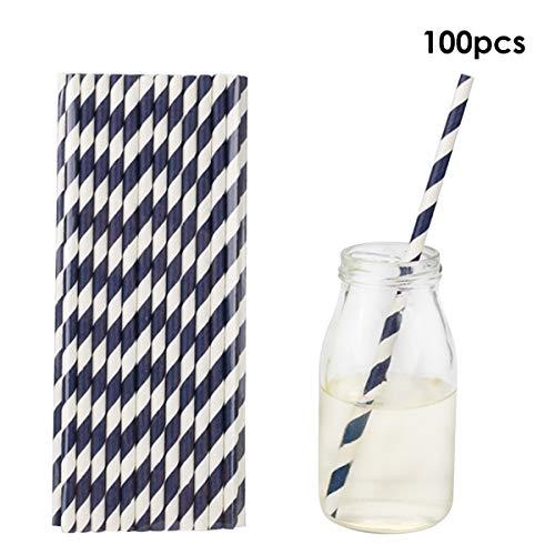 puseky 100 stks wegwerp biologisch afbreekbaar papier rietjes drinken rietjes voor sappen, shakes, smoothies, partij benodigdheden decoraties