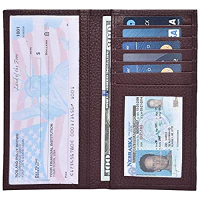 Check Book Covers - RFID Blocking Leather Standard Register Cover for Men Women