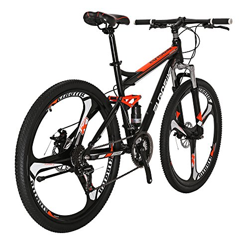 Eurobike S7 Mountain Bike 17 Inches Steel Frame 21 Speed 27.5 Inches 3 Spoke Wheel Dual Suspension Bicycle