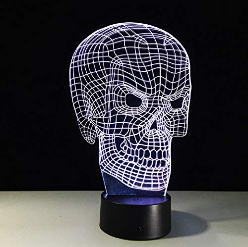 New Skeleton 3D Led Lamp 7 Color Change 3D Night Light Colorful Skull Table Lamp for Holiday Gifts Party Birthday