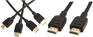 Amazonベーシック ハイスピードHDMIケーブル - 1.8m 2本セット(タイプAオス - タイプAオス/イーサネット/3D/4K/オーディオリターン/PS3/PS4/Xbox360対応) &  ハイスピード HDMIケーブル - 1.8m (タイプAオス - タイプAオス)