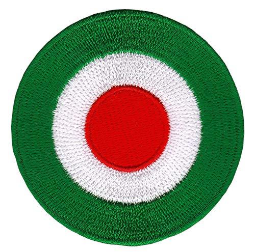 Bestellmich Zielscheibe Grün Target Aufnäher Bügelbild Patch Applikation Größe 6,4 x 6,4 cm