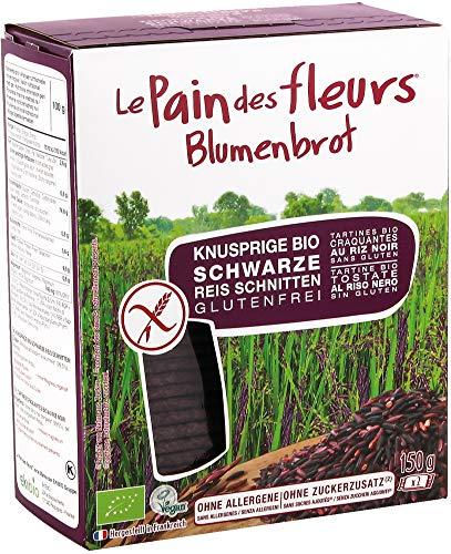 Blumenbrot Bio Knusprige Bio Schwarzer Reis-Schnitten (6 x 150 gr)