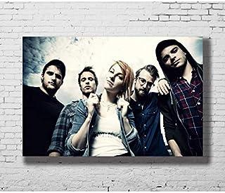 NOVELOVE Imagen de Arte de Pared Paramore Rock Band Hayley Williams Cartel Impresión Lienzo Pintura Regalo sin Marco 40 * 60 cm