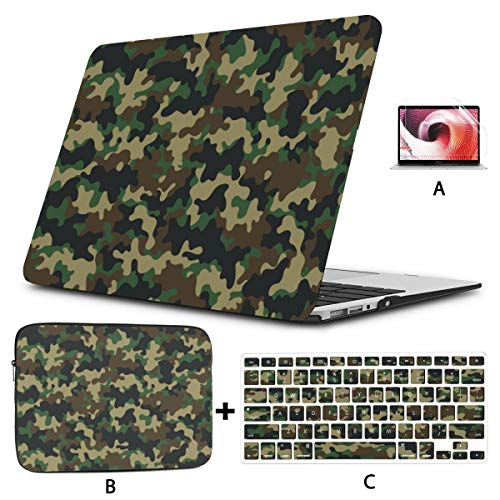 13 Macbook Case Classic Clothing Masking Camo 15 Inch Macbook Case Hard Shell Mac Air 11'/13' Pro 13'/15'/16' With Notebook Sleeve Bag For Macbook 2008-2020 Version