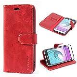 Mulbess Samsung Galaxy J3 2016 Case Wallet, Leather Flip