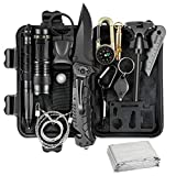 Survival Kit, 14 in 1 Survival Gear and Equipment, for Men, Emergency Survival Kit for Hiking, Hunting, Camping Adventures, Outdoors Sport