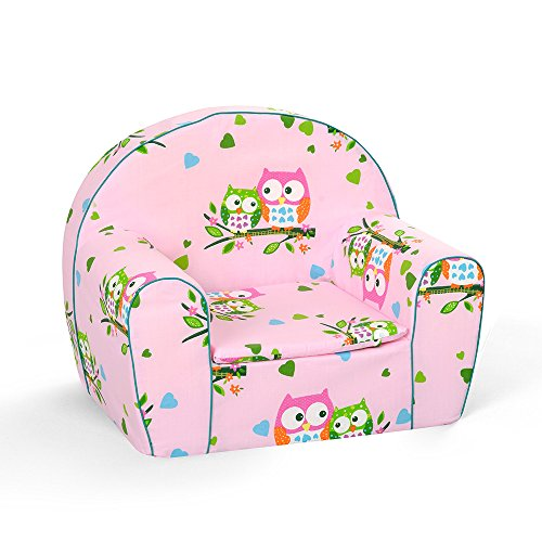 MuseHouse Childrens Chair I Armchair I Children Room Sofa Seat Stool l Kids Toddlers I Childs Sofa seat PINK-MHF125