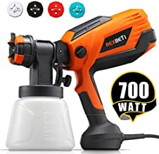 REXBETI 700 Watt High Power Paint Sprayer, 1000ml/min HVLP Home Electric Spray Gun with 1000ml Container, Easy Spraying and Cleaning, 4 Nozzle Sizes (1 Nozzle has Already Been Installed on The Gun)