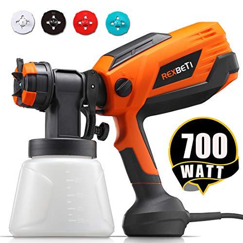 REXBETI 700 Watt High Power Paint Sprayer, 1000ml/min HVLP Home...